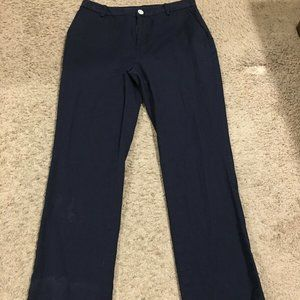 Ralph Lauren Navy Blue Straight Leg Chinos Pants